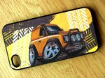 Koolart TYRE TRAX 4x4 Design For Yellow Land Rover Defender 90 Hard Case Cover Fits Apple iPhone 4 & 4s